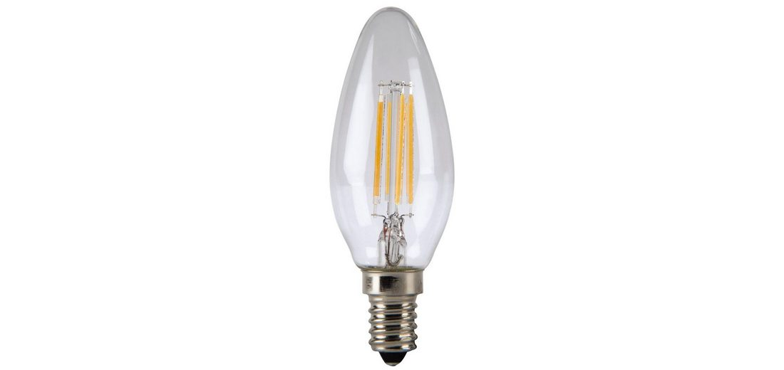 Xavax LED-Lampe, 4W, Kerzenform, Filament, E14, Warmweiß