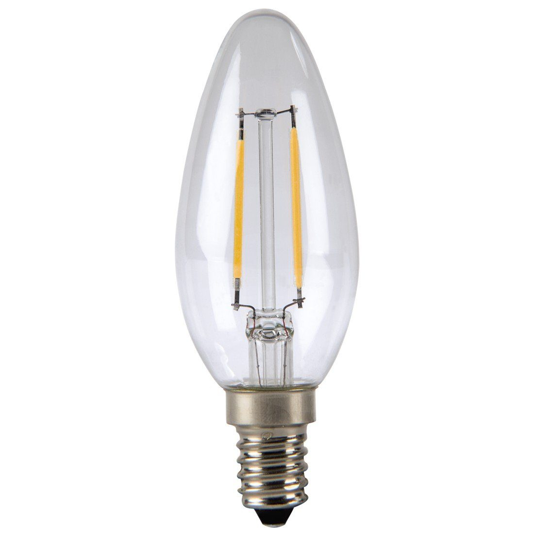 Xavax LED-Lampe, 2,4W, Kerzenform, Filament, E14, Warmweiß