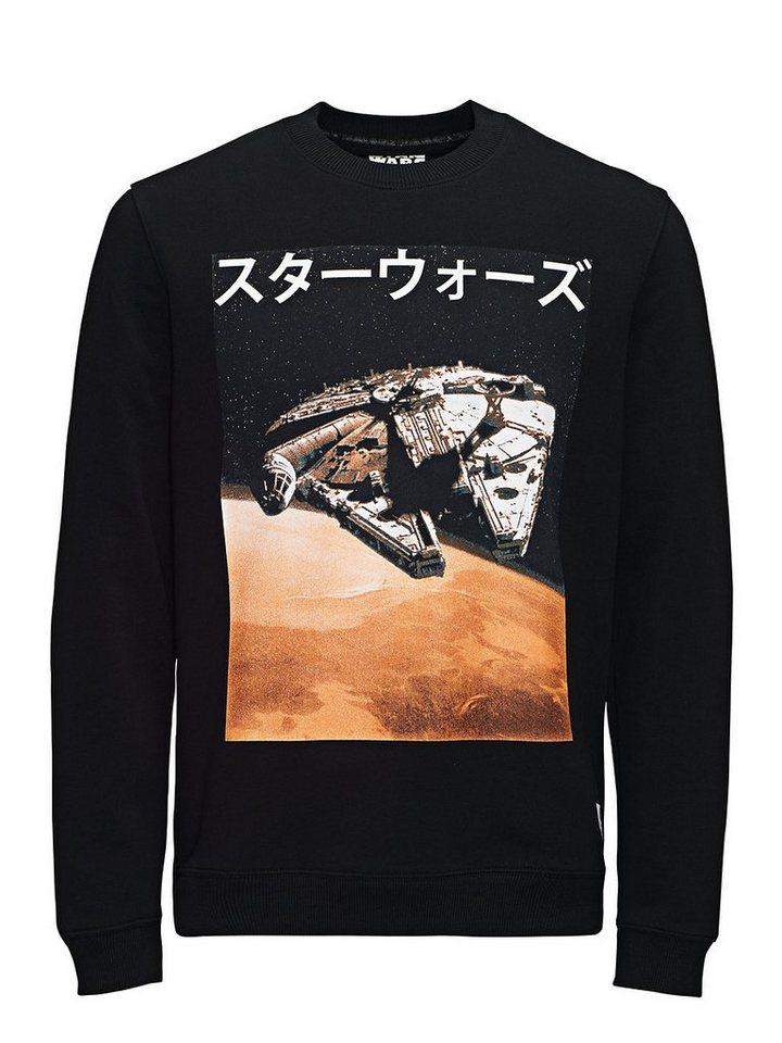 Jack & Jones Falcon Sweat Crew Neck Sweatshirt in Black