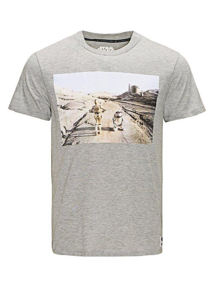 Jack & Jones Star Wars T-Shirt in Light Grey Melange