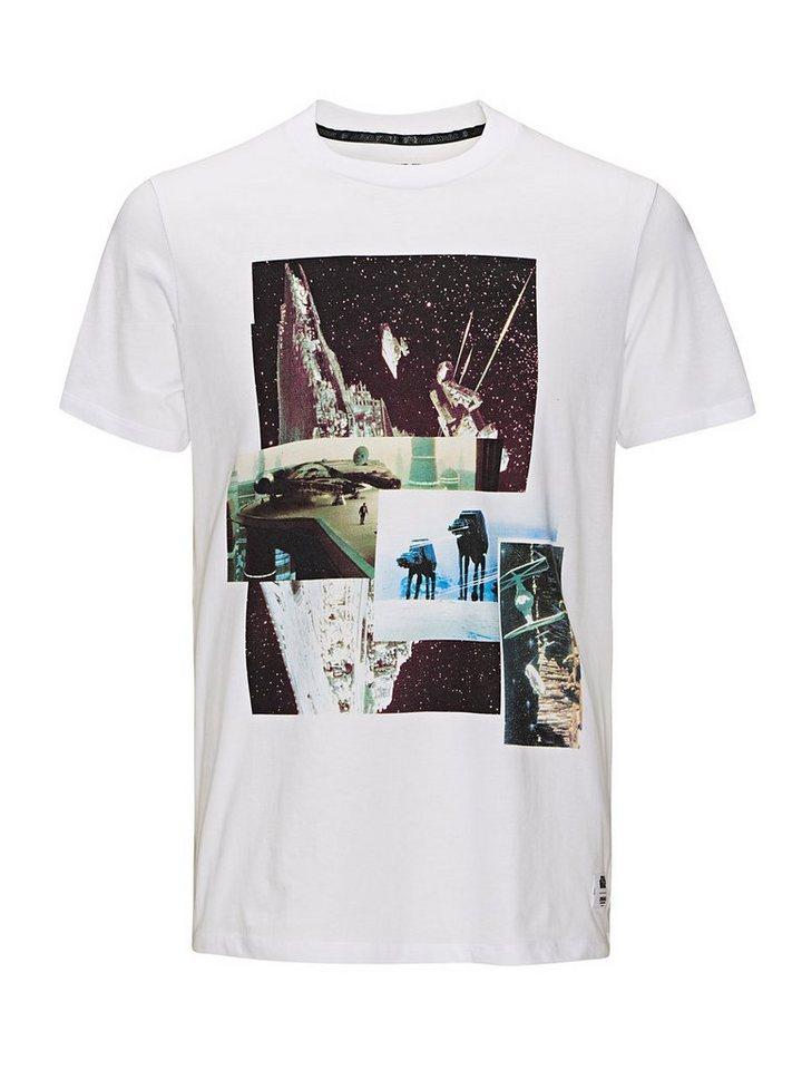 Jack & Jones Galaktisches Fotoprint T-Shirt in White
