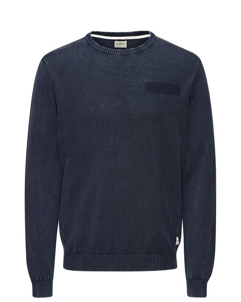 Jack & Jones Ellenbogen-Patch Workwear- Pullover in Total Eclipse