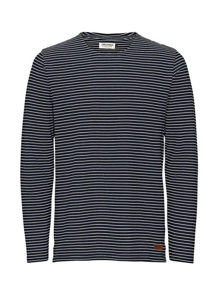 Jack & Jones Gestreiftes Sweatshirt in Navy Blazer