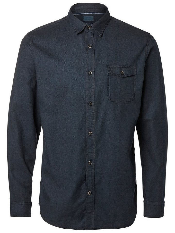 Selected Slim-Fit- Freizeithemd in Black