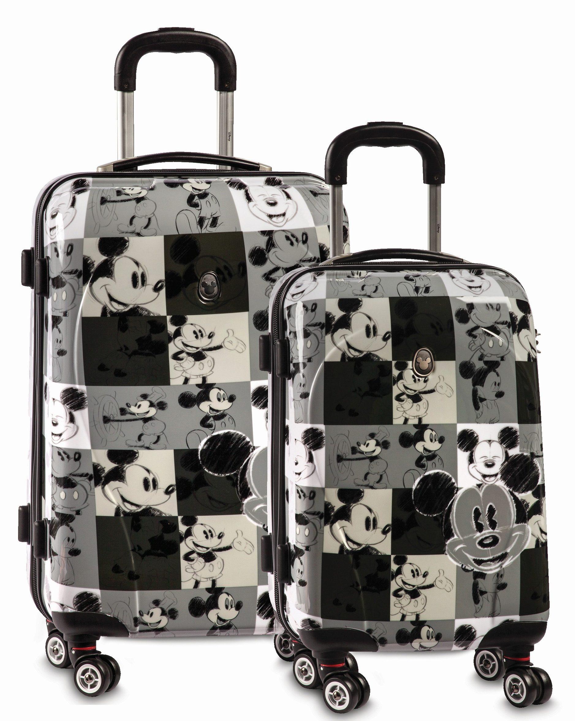Fabrizio Hartschalen Trolley-Set im Disney® Comic Style mit 4 Rollen (2-tlg.), »Mickey Mouse Blac
