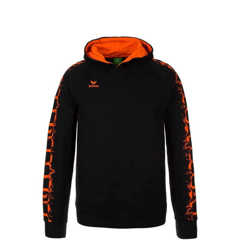ERIMA GRAFFIC 5-C HOODIE Kinder in schwarz/orange