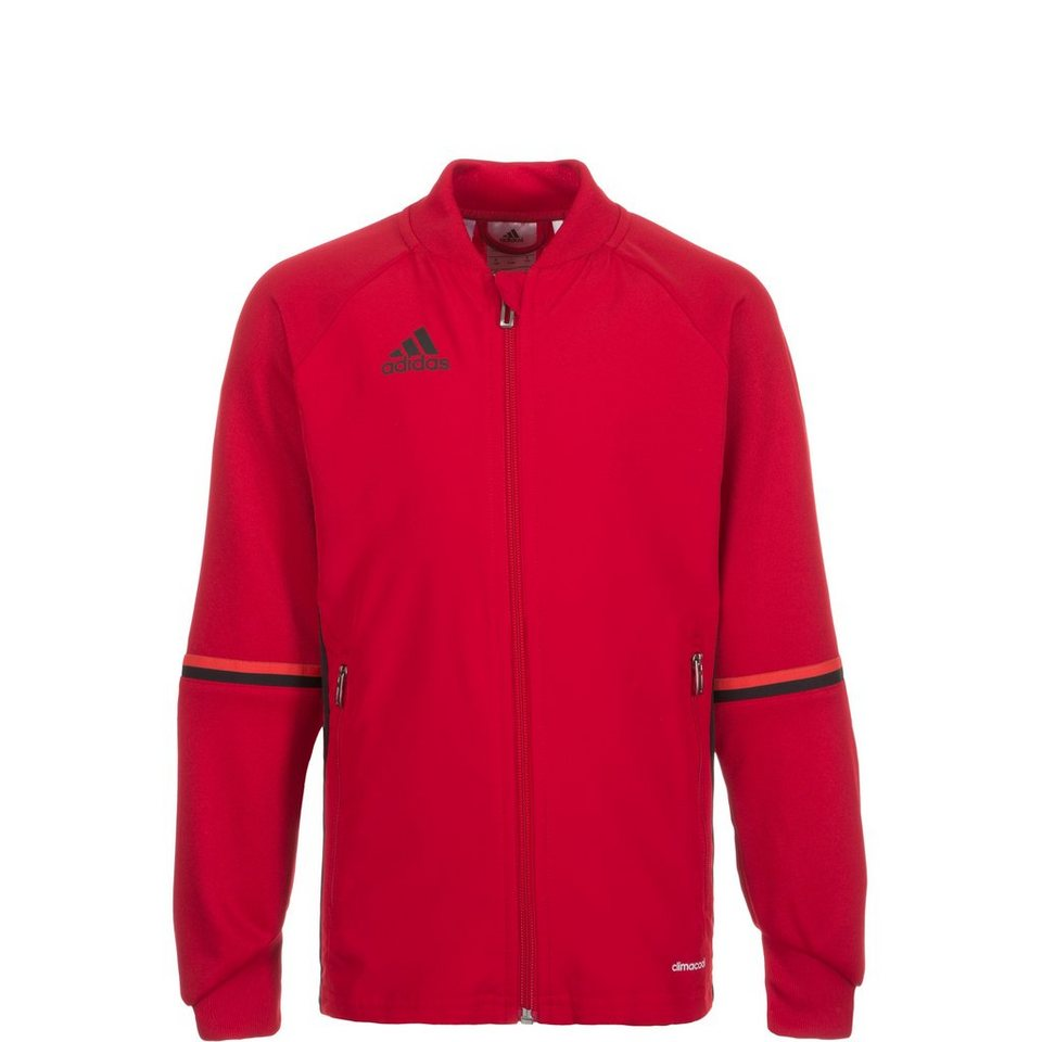 adidas Performance Condivo 16 Trainingsjacke Kinder in rot / schwarz