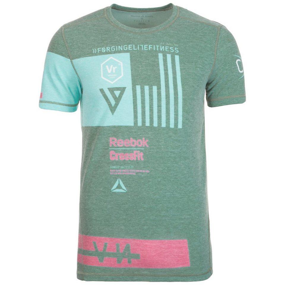 REEBOK CrossFit Triblend Trainingsshirt Herren in grün / hellblau