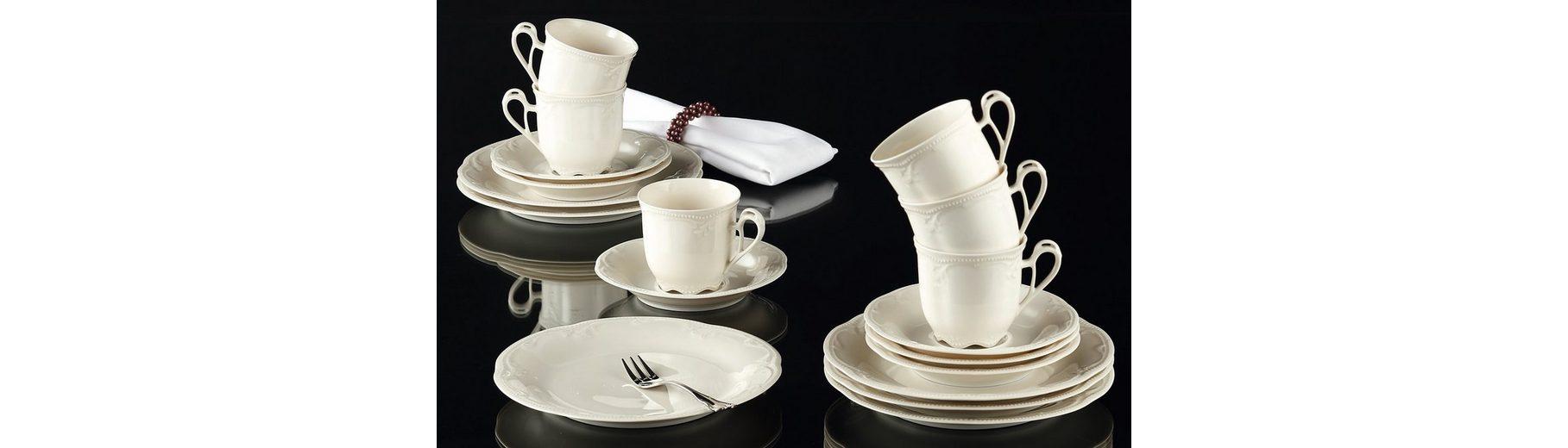 Königlich Tettau Kaffeeservice »Rubin«, 18-teilig