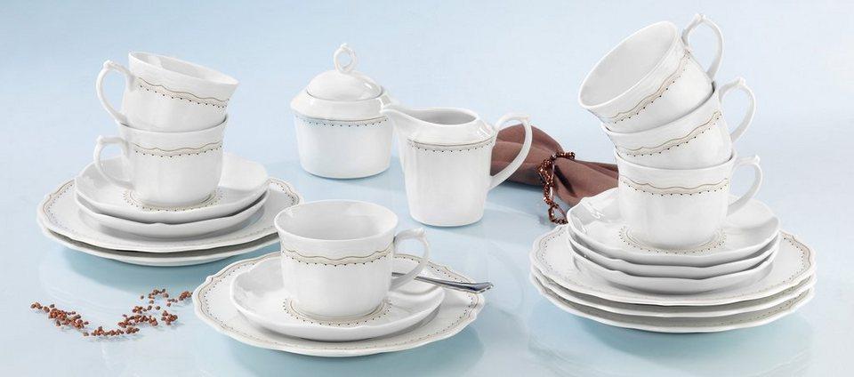 SELTMANN Weiden Kaffeeservice »Sonate Romance«, 20-teilig in weiß/braun