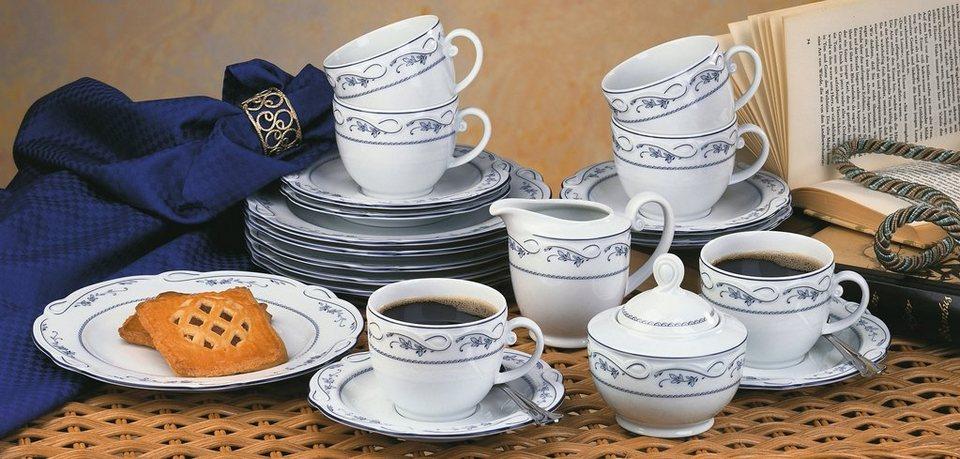 SELTMANN Weiden Kaffeeservice »Desiree Aalborg«, 20-teilig in weiß/blau
