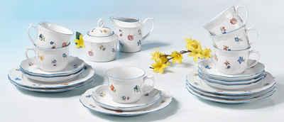 Seltmann Weiden Kaffeeservice »Sonate Streublume« (20-tlg), Porzellan, Spülmaschinengeeignet