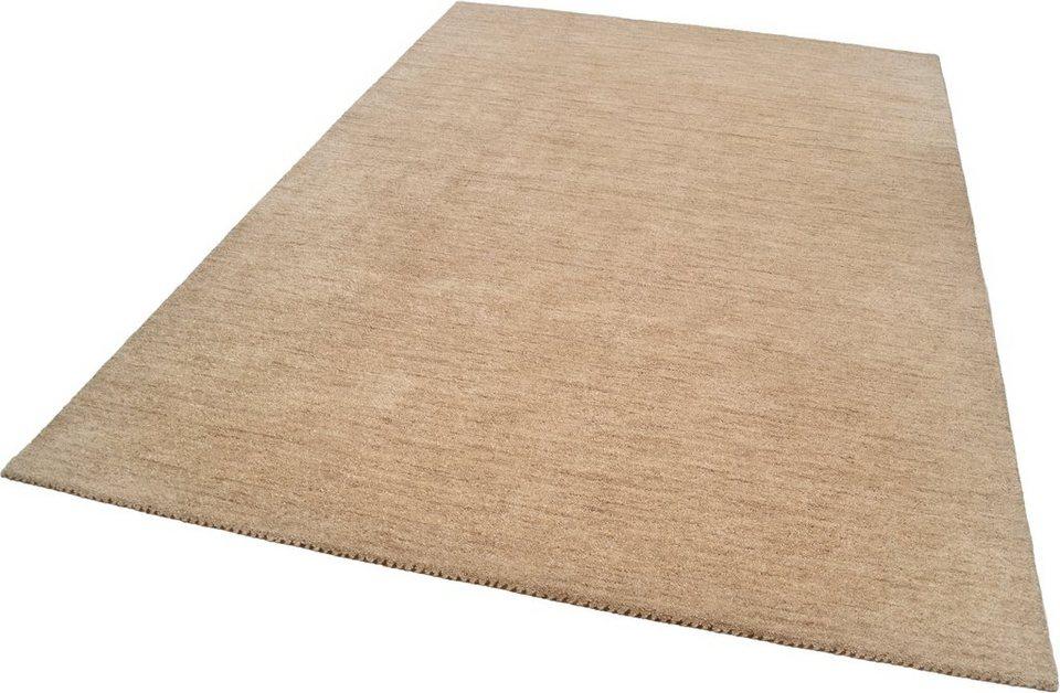 Teppich »Haltu Uni«, Theko, rechteckig, Höhe 17 mm in beige