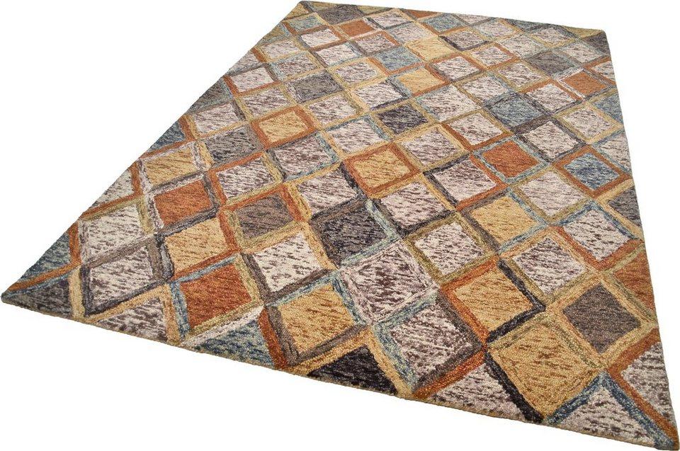 Teppich, Theko, »Kapaa«, handgetuftet in beige-bunt