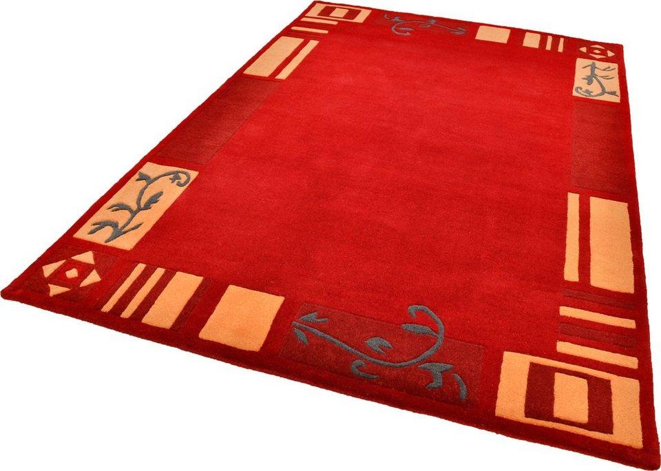 Teppich, Theko, »Hawai 7098«, handgetuftet in rot