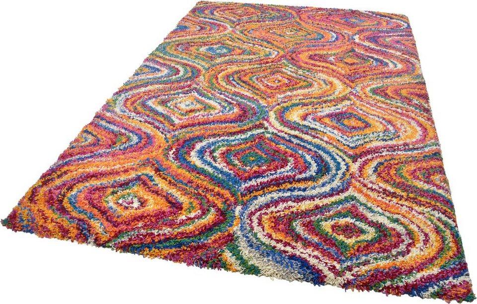 Hochflor-Teppich, Theko, »Color Shaggy 1522«, Höhe 35 mm, handgewebt in bunt