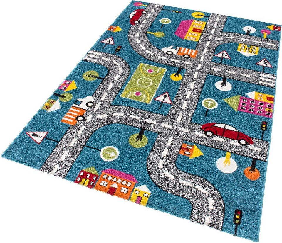 Kinder-Teppich, Lalee, »Amigo 317«, gewebt in bunt