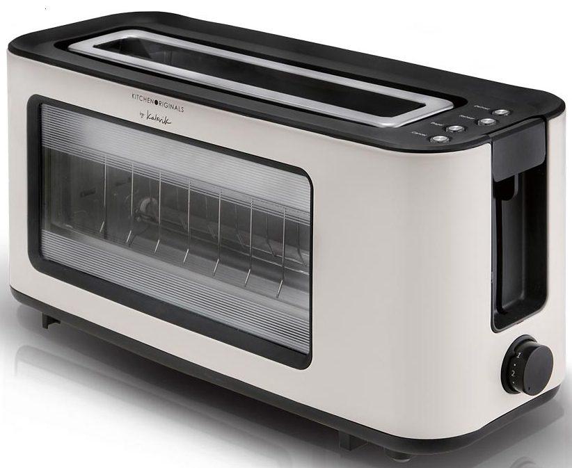 TEAM KALORIK Glas-Toaster TO 1012 KTO, 1100 Watt, mit Glasssichtfenster, creme / schwarz