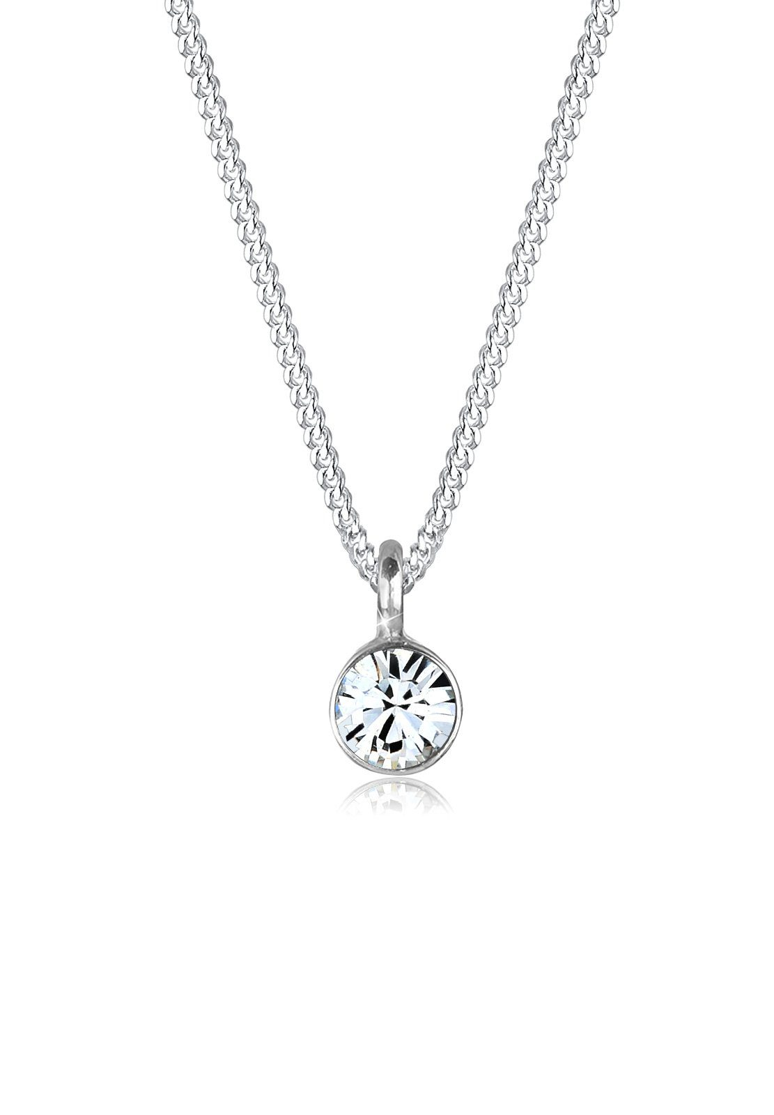 Elli Halskette »Basic Solitär Swarovski® Kristall 925 Silber«