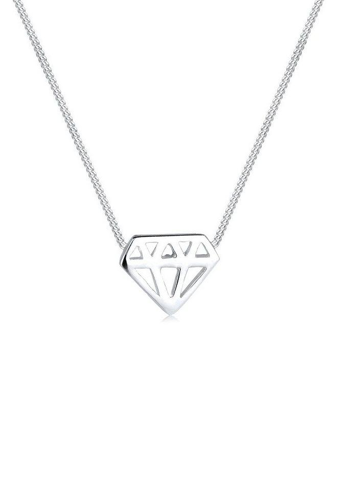Elli Halskette »Diamant 925 Silber« in Silber