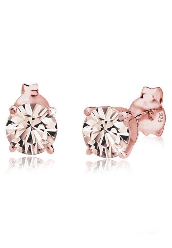 Elli Ohrringe »Swarovski Kristalle rosé-vergoldet« in Rosa
