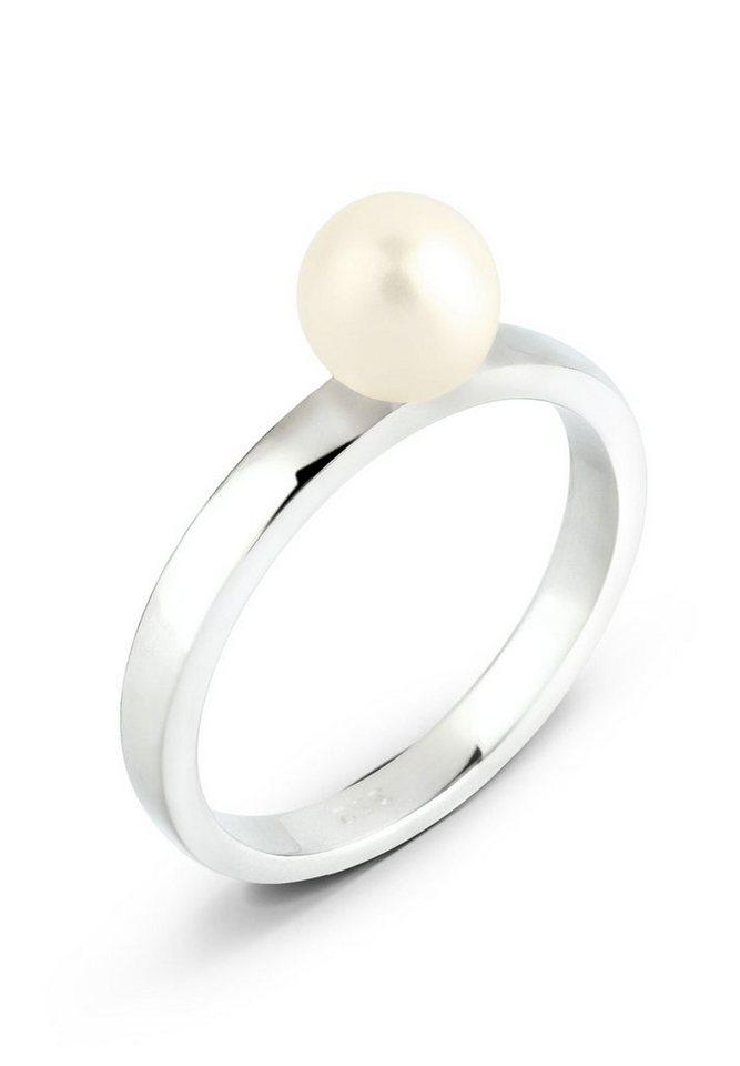 Elli Ring »Süßwasserzuchtperle 925 Silber« in Weiß