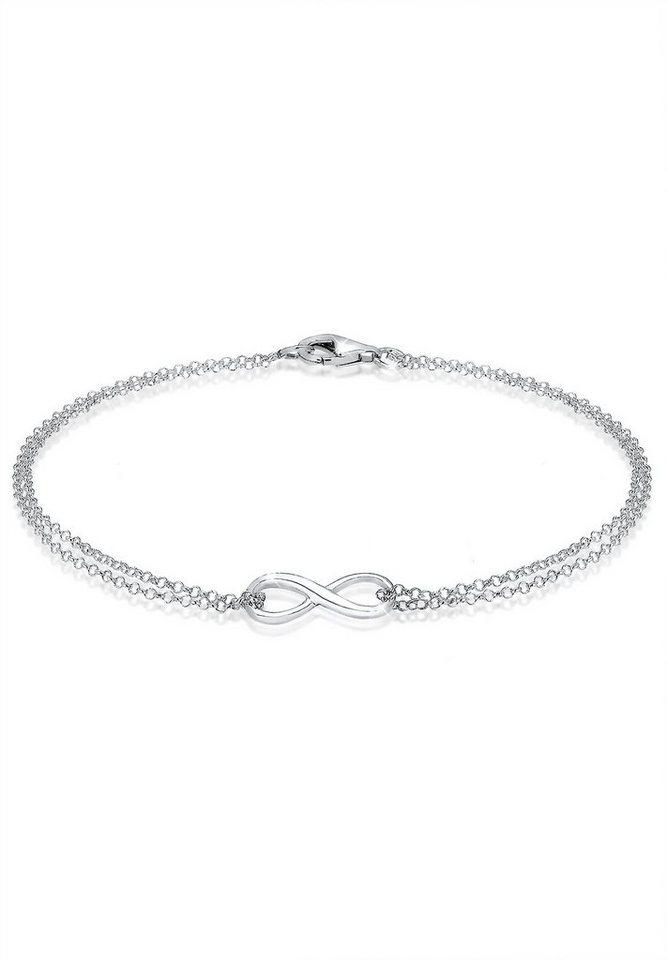 925 silber  Elli Armband »Infinity Symbol Love Unendlichkeit 925 Silber ...