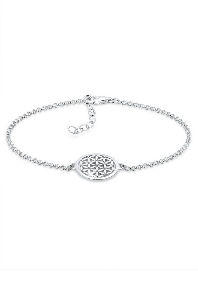 Elli Armband »Lebensblume Silber« in Silber