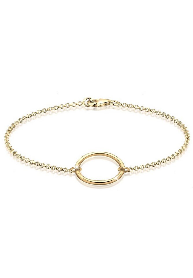Elli Armband »Kreis vergoldet« in Gold