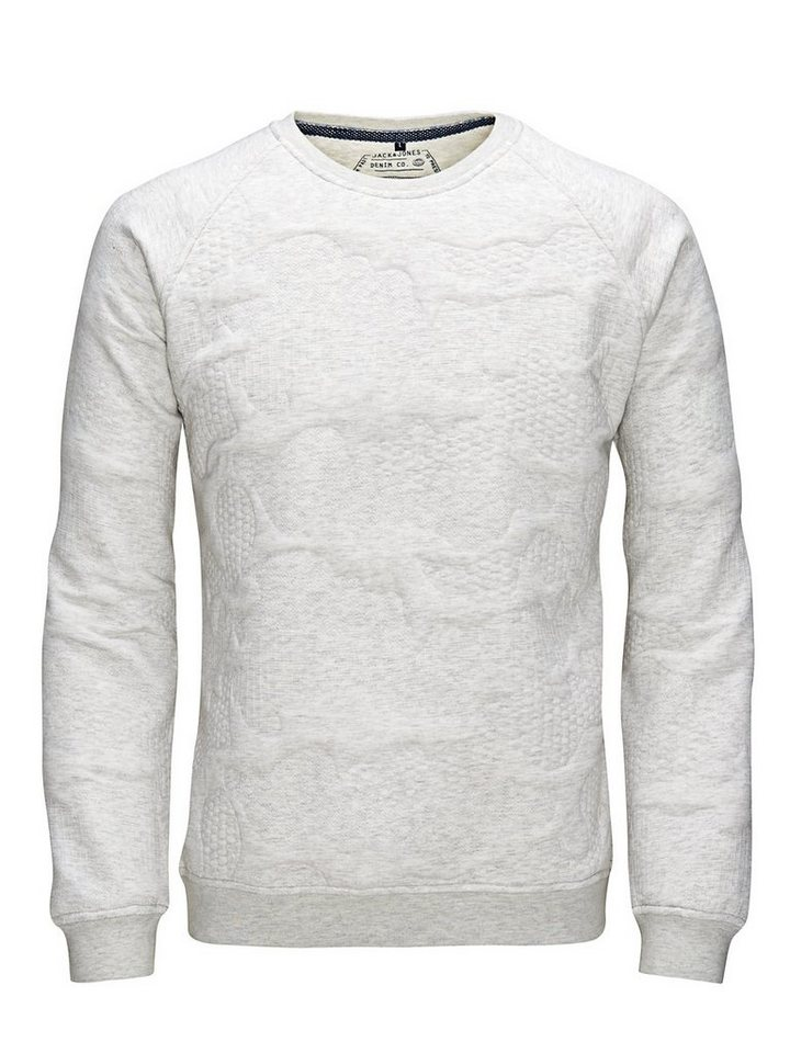 Jack & Jones Strukturmuster- Sweatshirt in Treated White