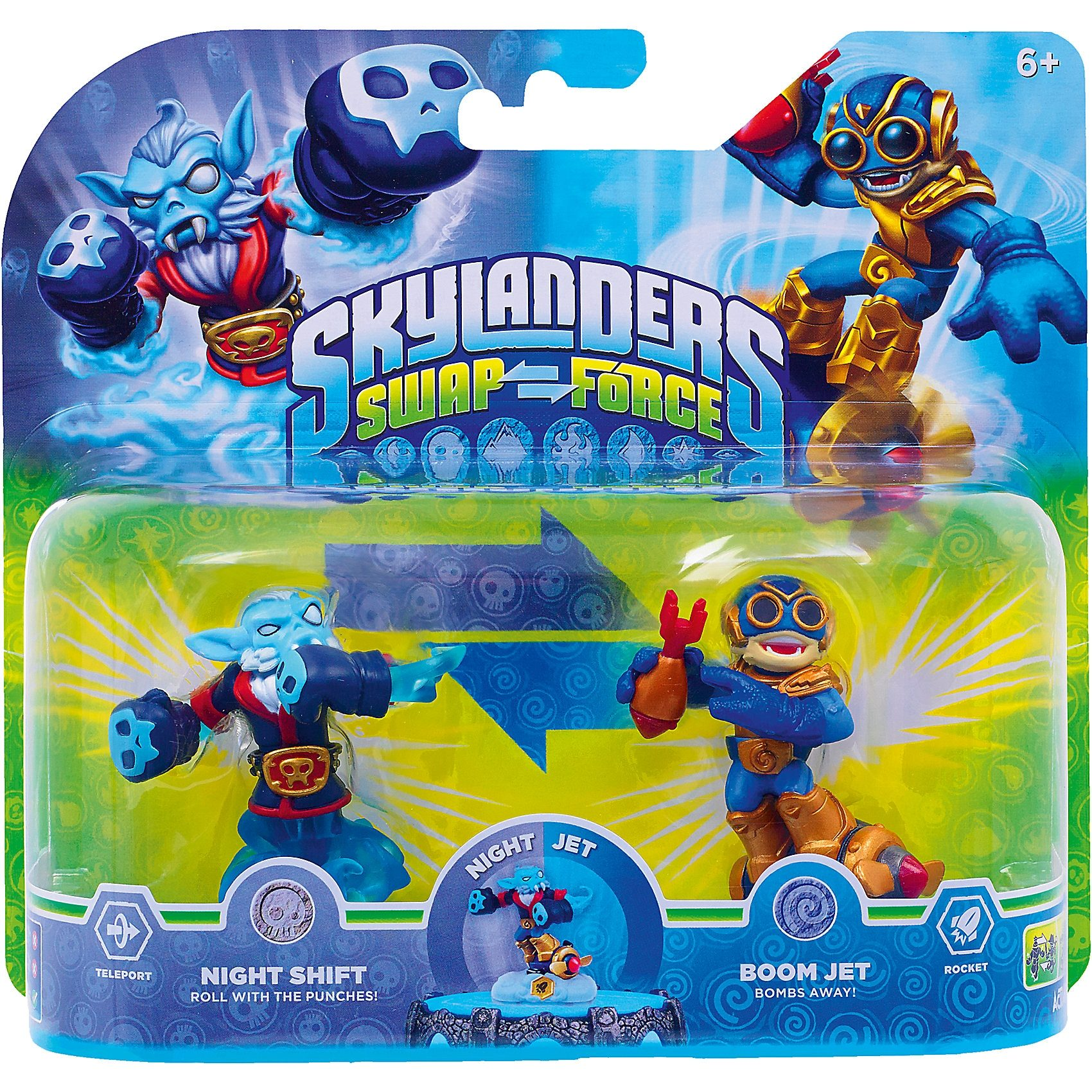 ak tronic Skylanders Swap Force 2er Pack (Night Shift + Boom Jet)