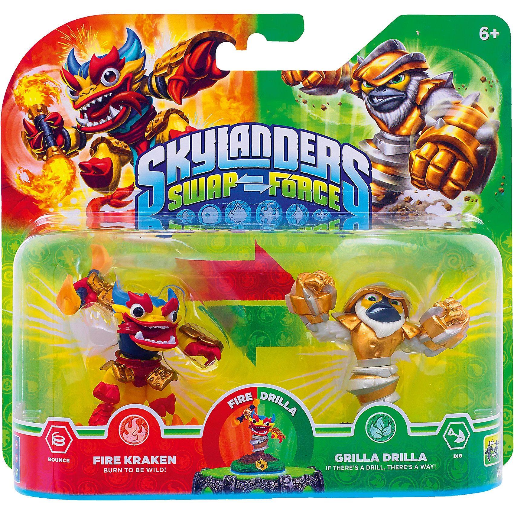 ak tronic Skylanders Swap Force 2er Pack (Free Kraken + Grilla Drilla)