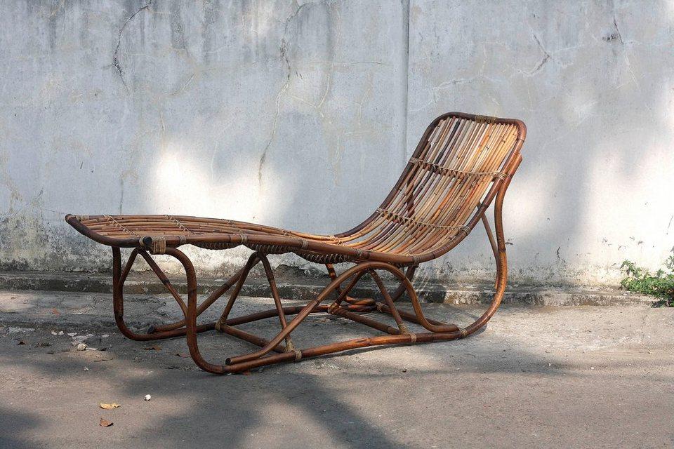 sit relax liege vintage aus naturbelassenen rattan. Black Bedroom Furniture Sets. Home Design Ideas