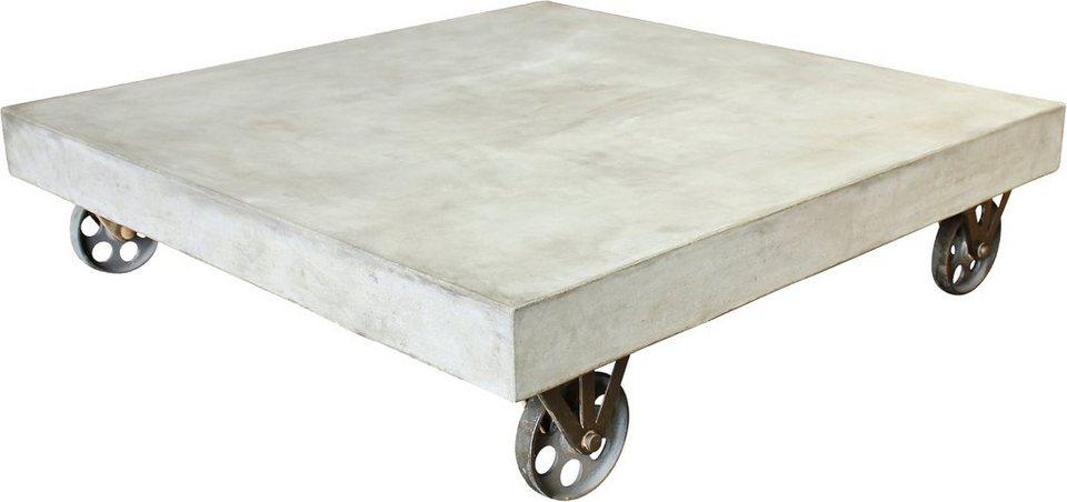 SIT Couchtisch »Cement«, auf Rollen in grau