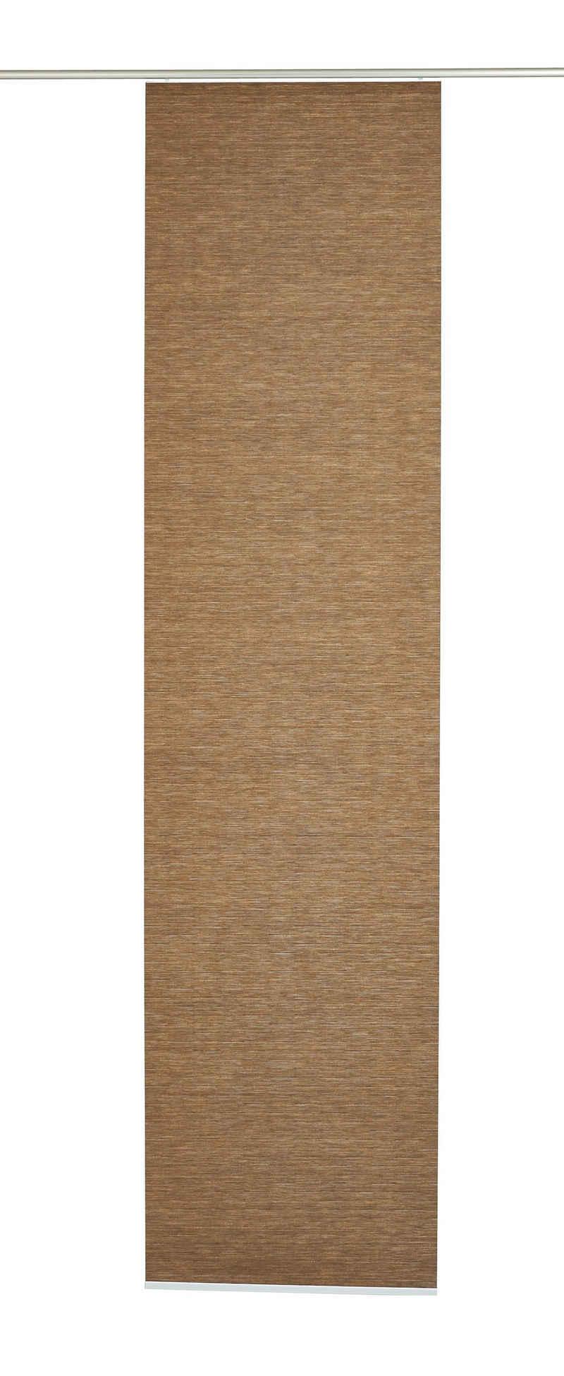 Schiebegardine »Flächenvorhang Natur-optik«, GARDINIA, Klettband (1 Stück), HxB: 245x60