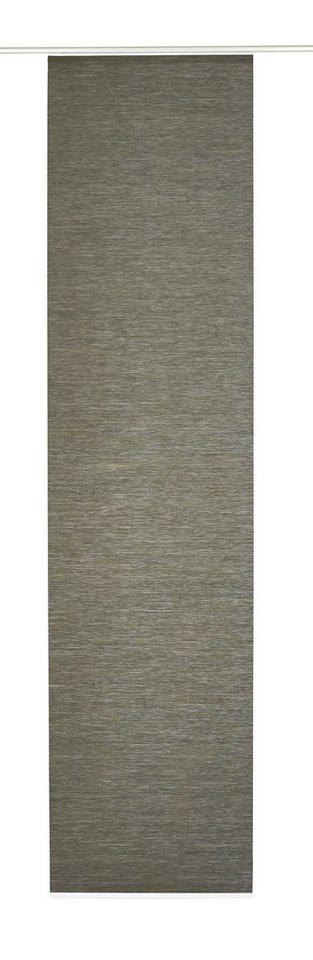Schiebegardine, Gardinia, »Flächenvorhang Naturoptik«, 60 cm breit (1 Stück ohne Zubehör) in erde