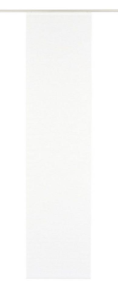 Schiebegardine, Gardinia, »Flächenvorhang Naturoptik«, mit Klettband, 60 cm breit (1 Stück ohne Zubehör) in weiß