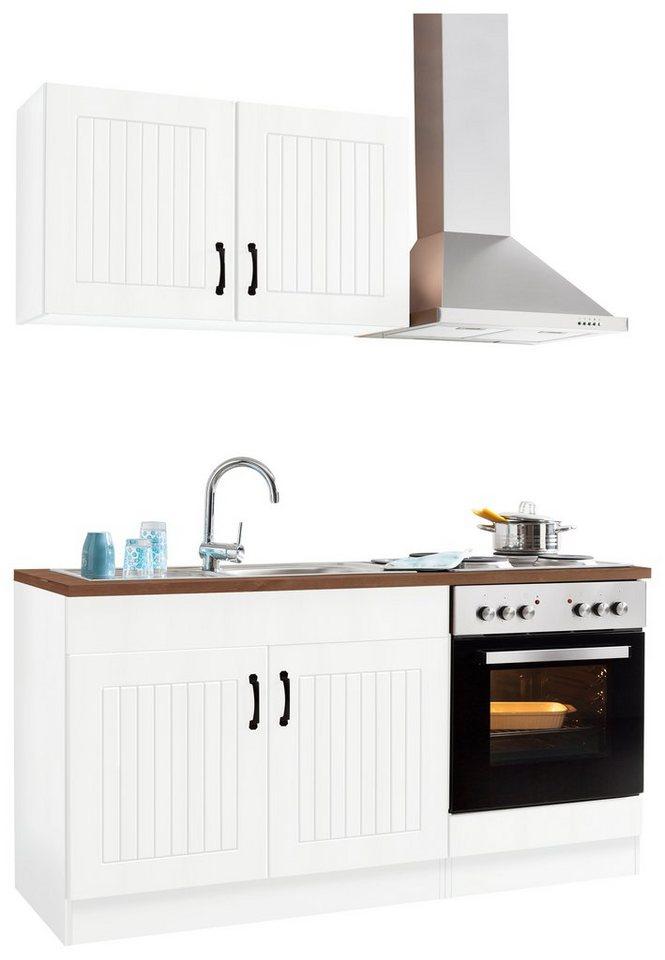 Küchenzeile »Athen«, mit E-Geräten, Breite 160 cm | OTTO