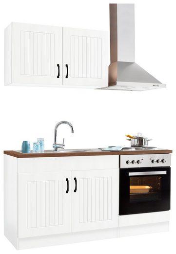 Küchenzeile »Athen«, mit E-Geräten, Breite 160 cm
