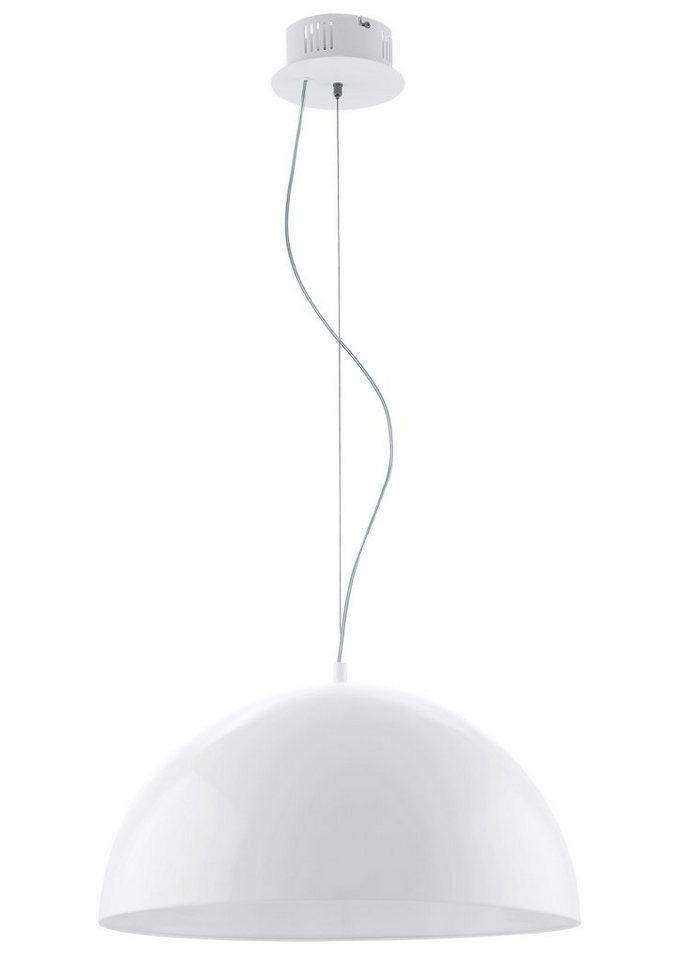 Eglo LED-Pendelleuchte, 1flg., »GEATANO« in Stahl weiß, Kunstsoff weiß