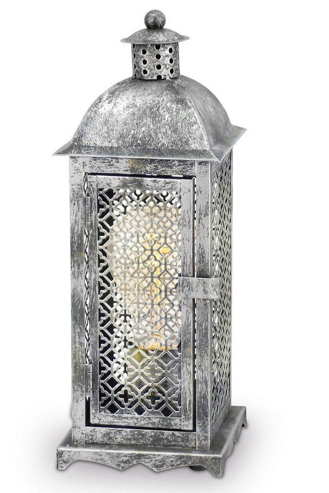Eglo Tischleuchte, 1flg., »VINTAGE« in Stahl, silber-antik