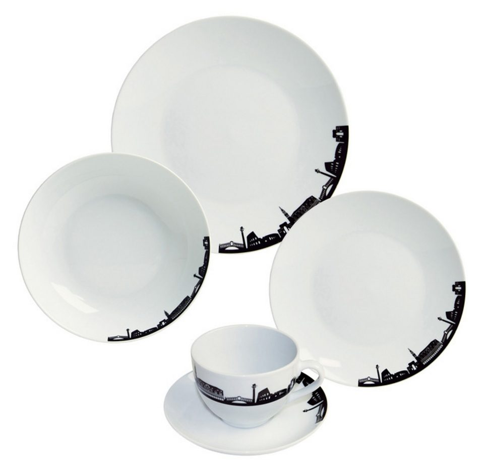 ARTE VIVA Kombiservice, design I love®, Porzellan, »ITALIA MIA« (30tlg.)