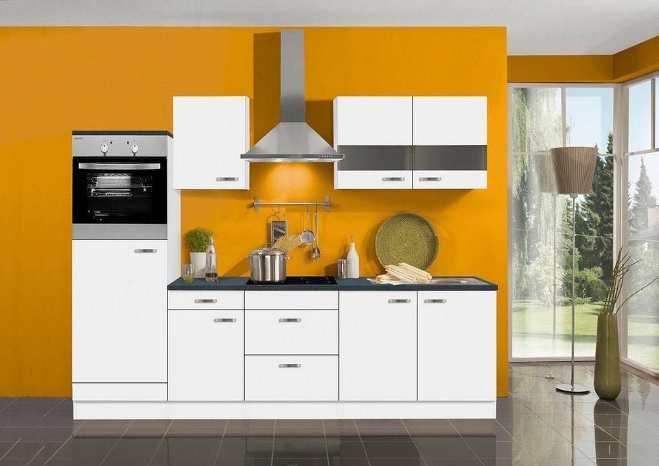Optifit Küchenzeile ohne E-Geräte »Lagos«, Breite 270 cm in weiß