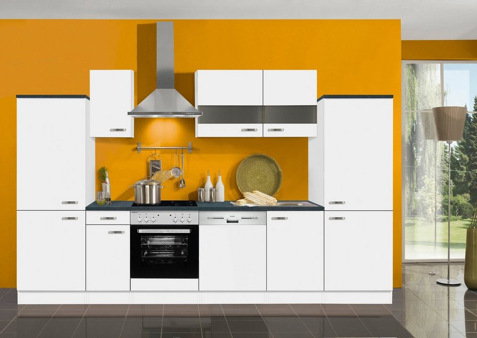 Optifit Küchenzeile ohne E-Geräte »Lagos«, Breite 330 cm in weiß