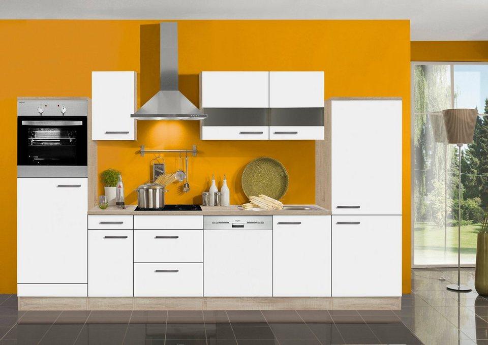 Küchenzeile ohne E-Geräte »Dakar«, Breite 330 cm in weiß