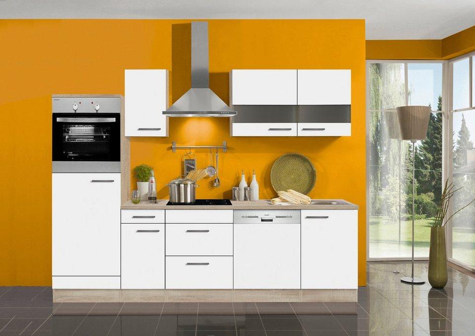 Küchenzeile ohne E-Geräte »Dakar«, Breite 270 cm in weiß