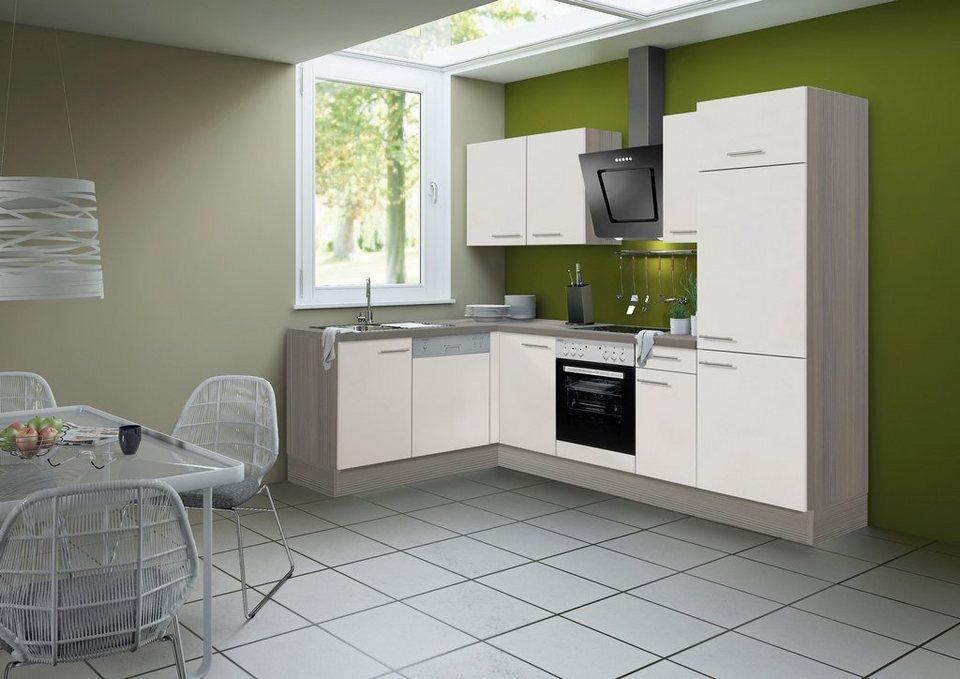 Küchenzeile ohne E-Geräte »Finn«, Breite 315 x 175 cm in sandfarben