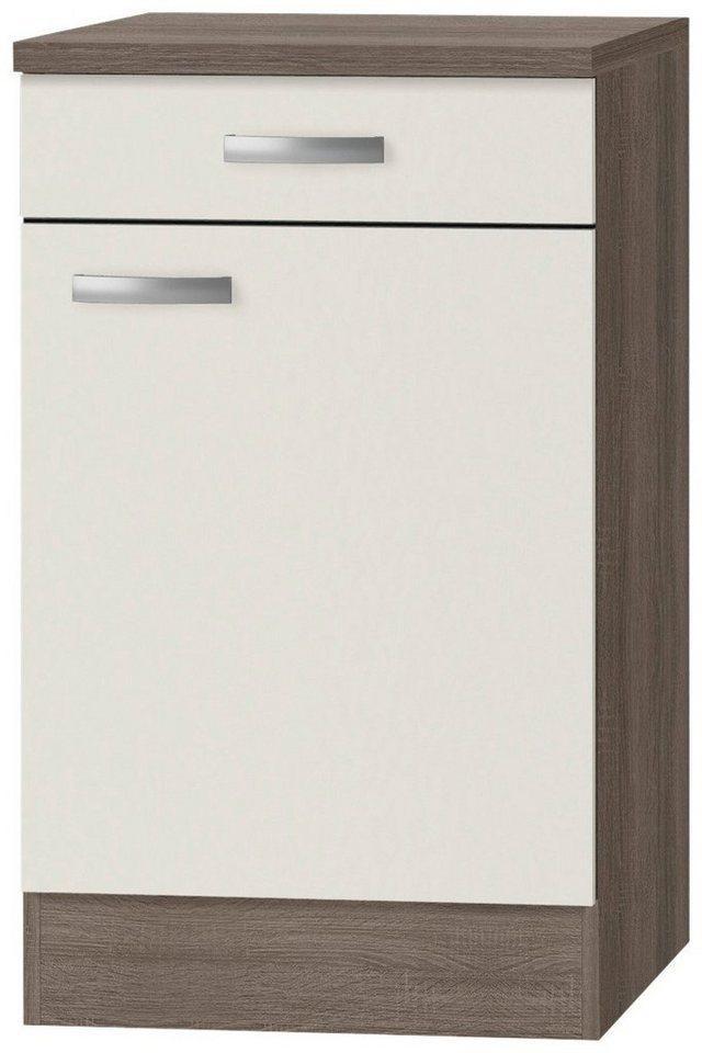Küchenunterschrank »Rom«, Breite 50 cm in cremefarben