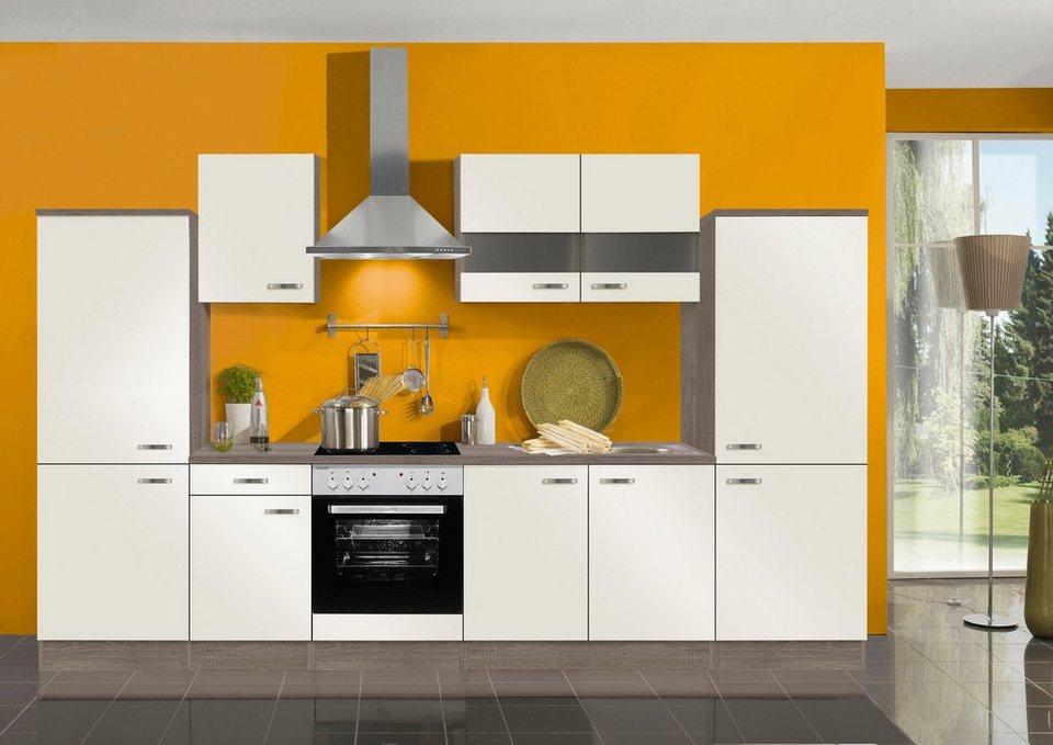 Optifit Küchenzeile ohne E-Geräte »Rom«, Breite 330 cm in creme