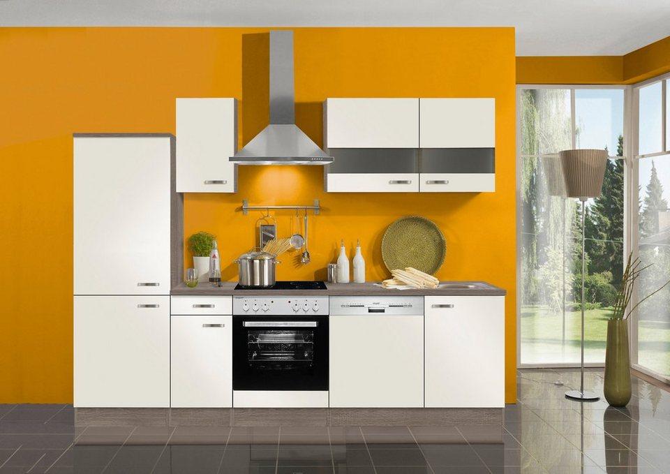 Küchenzeile ohne E-Geräte »Rom«, Breite 270 cm in creme